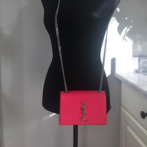 2e577ffdfa Kate Monogram YSL Small Hot Pink Crossbody Bag. M 5c5dd361e944baba8cdeb1aa